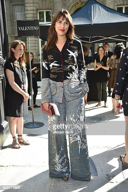Jeanne Damas arrives at Valentino Fashion Show during Paris Fashion Week Haute Couture F/W 20162017 on July 6 2016 in Paris France