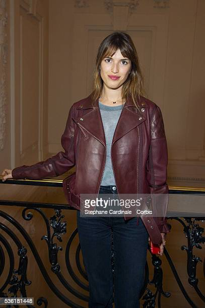 Jeanne Damas attend the Jean Paul Gaultier Spring Summer 2016 show as part of Paris Fashion Week on January 27 2016 in Paris France