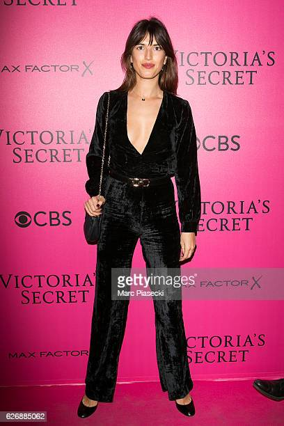Jeanne Damas attends '2016 Victoria's Secret Fashion Show' Pink carpet photocall at Le Grand Palais on November 30 2016 in Paris France