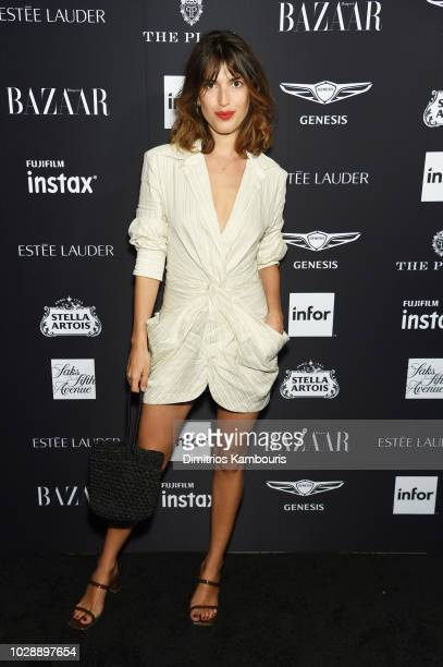 "Jeanne Damas attends as Harper's BAZAAR Celebrates ""ICONS By Carine Roitfeld"" at the Plaza Hotel on September 7, 2018 in New York City."