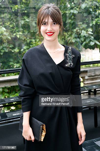 Jeanne Damas attends Cerruti Menswear Spring/Summer 2014 Show As Part Of The Paris Fashion Week held at Institute for young deaf on June 28 2013 in...