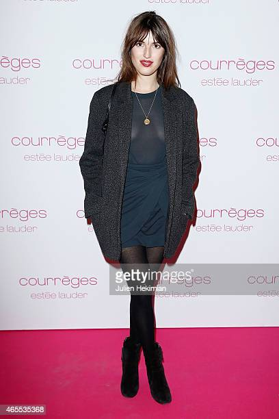 Jeanne Damas attends Courreges and Estee Lauder Dinner Party during Paris Fashion Week Womenswear Fall/Winter 2015/2016 on March 7 2015 in Paris...