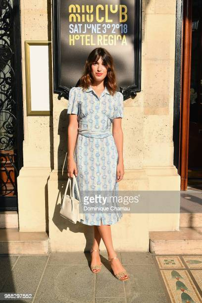 Jeanne Damas attends Miu Miu 2019 Cruise Collection Show at Hotel Regina on June 30 2018 in Paris France