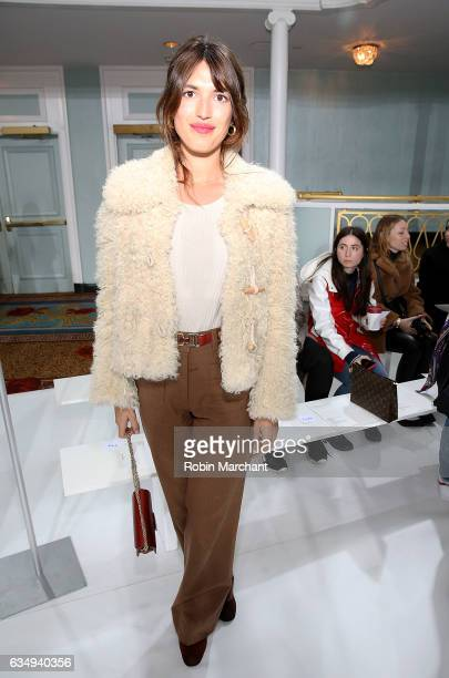Jeanne Damas attends Sies Marjan during New York Fashion Week on February 12 2017 in New York City