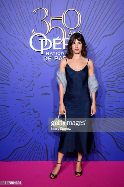 Jeanne Damas attends the 350th Anniversary Gala photocall at Opera Garnier on May 08, 2019 in Paris, France.