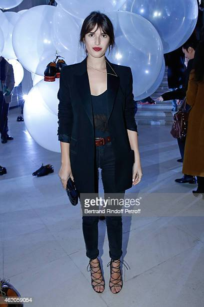 Jeanne Damas attends the Berluti Menswear Fall/Winter 20152016 Show as part of Paris Fashion Week Held at Musee des Arts Decoratifs on January 23...