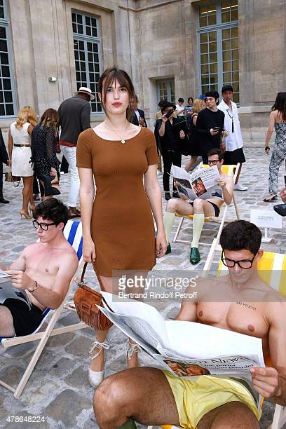 Jeanne Damas attends the Berluti Menswear Spring/Summer 2016 show as part of Paris Fashion Week Held at Musee Picasso on June 26 2015 in Paris France