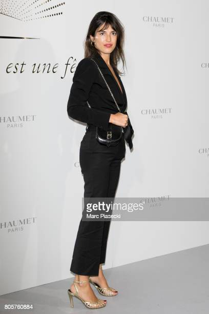 Jeanne Damas attends the 'Chaumet Est Une Fete' Haute Joaillerie Collection Launch as part of Haute Couture Paris Fashion Week on July 2 2017 in...
