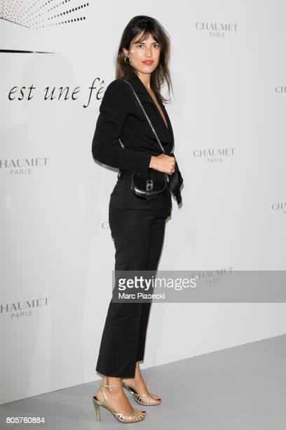 Jeanne Damas attends the Chaumet Est Une Fete Haute Joaillerie Collection Launch as part of Haute Couture Paris Fashion Week on July 2 2017 in Paris...