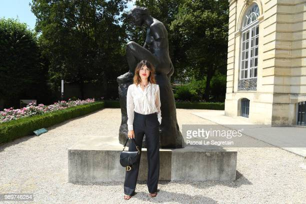 Jeanne Damas attends the Christian Dior Haute Couture Fall Winter 2018/2019 show as part of Paris Fashion Week on July 2 2018 in Paris France