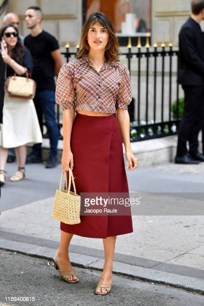 Jeanne Damas attends the Christian Dior Haute Couture Fall/Winter 2019 2020 show as part of Paris Fashion Week on July 01, 2019 in Paris, France.