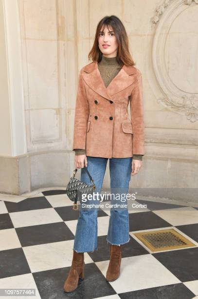 Jeanne Damas attends the Christian Dior Haute Couture Spring Summer 2019 show as part of Paris Fashion Week on January 21 2019 in Paris France