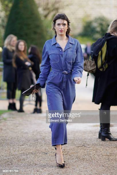 Jeanne Damas attends the Christian Dior Haute Couture Spring Summer 2018 show as part of Paris Fashion Week on January 22 2018 in Paris France