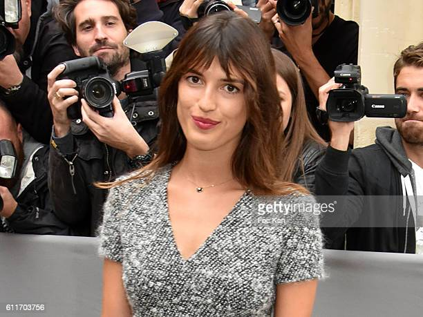 Jeanne Damas attends the Christian Dior show as part of the Paris Fashion Week Womenswear Spring/Summer 2017on September 30, 2016 in Paris, France. .
