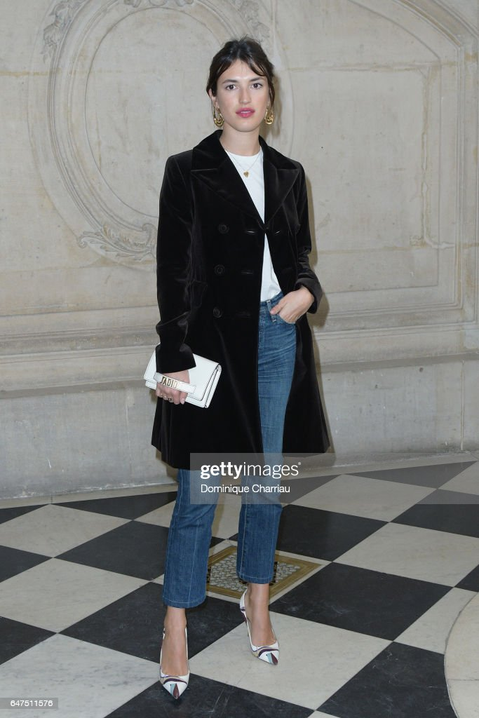 Jeanne Damas attends the Christian Dior show as part of the Paris Fashion Week Womenswear Fall/Winter 2017/2018 on March 3, 2017 in Paris, France.