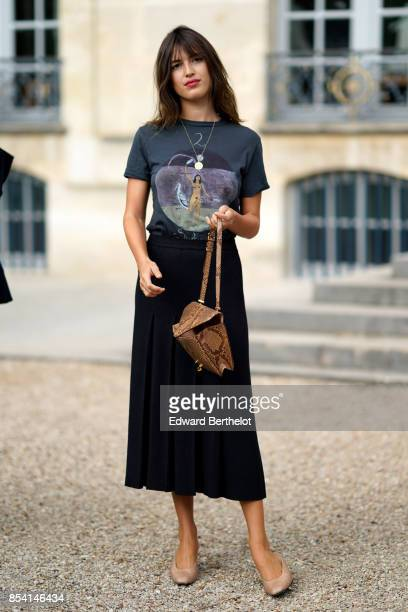 Jeanne Damas attends the Christian Dior show as part of the Paris Fashion Week Womenswear Spring/Summer 2018 on September 26 2017 in Paris France