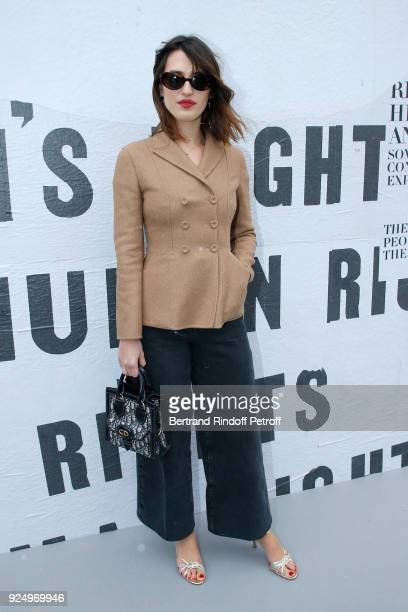 Jeanne Damas attends the Christian Dior show as part of the Paris Fashion Week Womenswear Fall/Winter 2018/2019 on February 27 2018 in Paris France