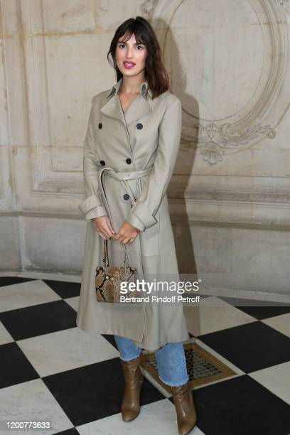 Jeanne Damas attends the Dior Haute Couture Spring/Summer 2020 show as part of Paris Fashion Week on January 20, 2020 in Paris, France.