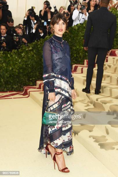 Jeanne Damas attends the Heavenly Bodies: Fashion & The Catholic Imagination Costume Institute Gala at The Metropolitan Museum of Art on May 7, 2018...