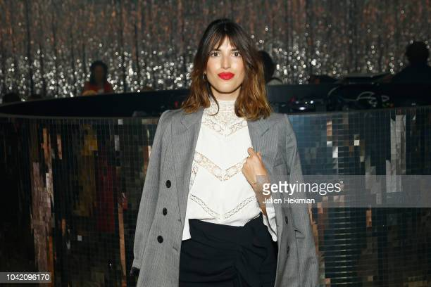Jeanne Damas attends the Isabel Marant show as part of the Paris Fashion Week Womenswear Spring/Summer 2019 on September 27 2018 in Paris France