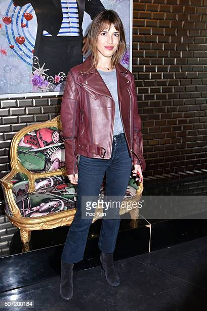 Jeanne Damas attends the Jean Paul Gaultier Spring Summer 2016 show as part of Paris Fashion Week on January 27 2016 in Paris France