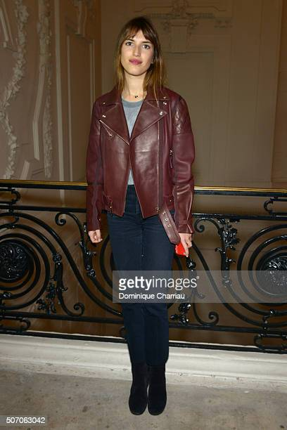 Jeanne Damas attends the JeanPaul Gaultier Haute Couture Spring Summer 2016 show as part of Paris Fashion Week on January 27 2016 in Paris France