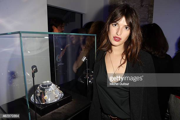 Jeanne Damas attends the Launch Elie Top 'Haute Joaillerie Fantaisie' Collection on January 27 2015 in Paris France