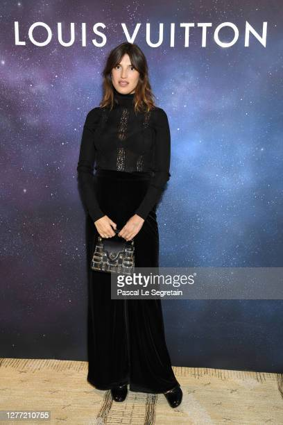 Jeanne Damas attends the Louis Vuitton Stellar Jewelry Cocktail Event at Place Vendome on September 28, 2020 in Paris, France.