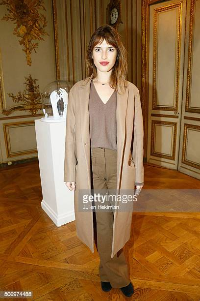 Jeanne Damas attends the 'Memphis' Fine jewelry collection launch as part of Paris Fashion Week at Mona Bismarck American Center on January 26 2016...