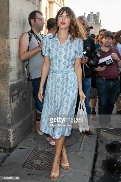 Jeanne Damas attends the Miu Miu 2019 Cruise Collection Show at Hotel Regina on June 30 2018 in Paris France