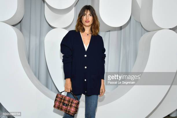 Jeanne Damas attends the Miu Miu show as part of the Paris Fashion Week Womenswear Spring/Summer 2019 on October 2 2018 in Paris France