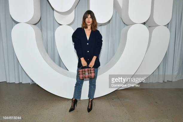 Jeanne Damas attends the Miu Miu show as part of the Paris Fashion Week Womenswear Spring/Summer 2019 on October 2, 2018 in Paris, France.