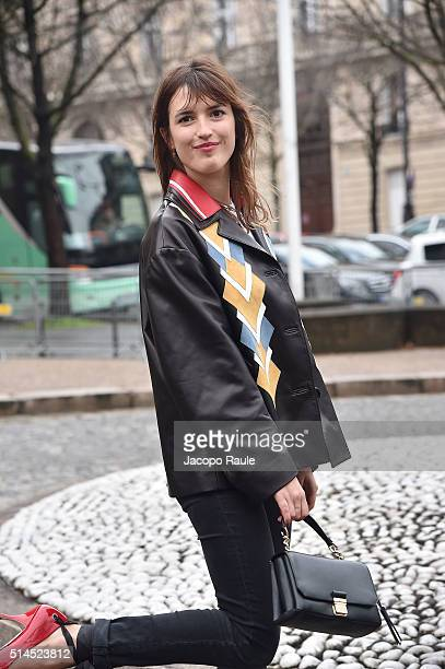 Jeanne Damas attends the Miu Miu show as part of the Paris Fashion Week Womenswear Fall Winter 2016/2017 on March 9 2016 in Paris France