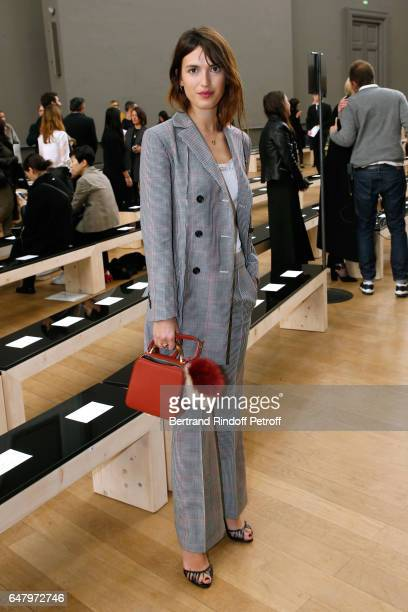 Jeanne Damas attends the Nina Ricci show as part of the Paris Fashion Week Womenswear Fall/Winter 2017/2018 on March 4 2017 in Paris France