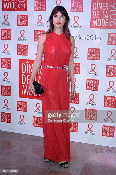 Jeanne Damas attends the Sidaction Gala Dinner 2016 as part of Paris Fashion Week on January 28 2016 in Paris France