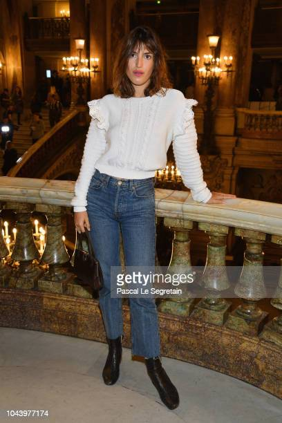 Jeanne Damas attends the Stella McCartney show as part of the Paris Fashion Week Womenswear Spring/Summer 2019 on October 1, 2018 in Paris, France.