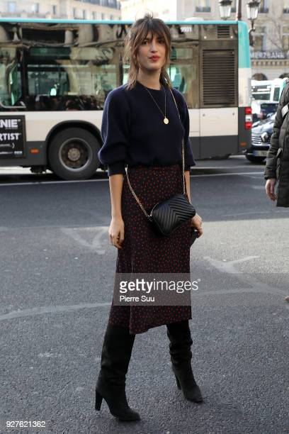 Jeanne Damas attends the Stella McCartney show as part of the Paris Fashion Week Womenswear Fall/Winter 2018/2019 on March 5 2018 in Paris France