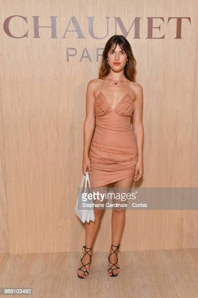 Jeanne Damas attends the 'Tresors d'Afrique' Unvelling Of Chaumet High Jewelry Party as part of Haute Couture Paris Fashion Week on July 1 2018 in...
