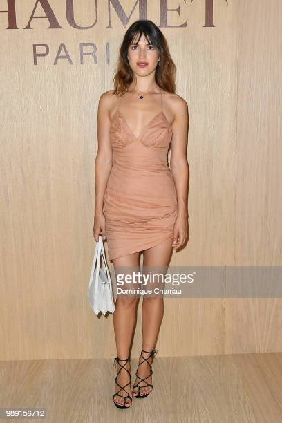 Jeanne Damas attends the Tresors d'Afrique Unvelling Of Chaumet High Jewelry Party as part of Haute Couture Paris Fashion Week on July 1 2018 in...