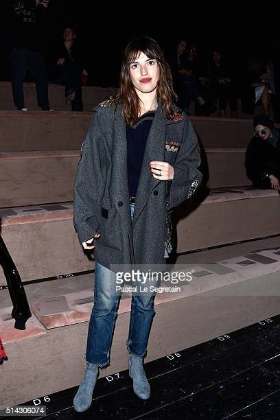 Jeanne Damas attends the Valentino show as part of the Paris Fashion Week Womenswear Fall/Winter 2016/2017 on March 8 2016 in Paris France