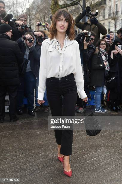 Jeanne Damas attends the Valentino show as part of the Paris Fashion Week Womenswear Fall/Winter 2018/2019 on March 4 2018 in Paris France