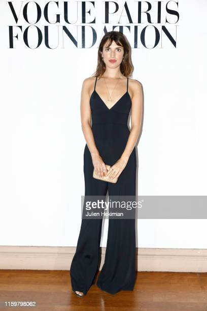 Jeanne Damas attends the Vogue diner as part of Paris Fashion Week Haute Couture Fall Winter 2020 at Le Trianon on July 02 2019 in Paris France