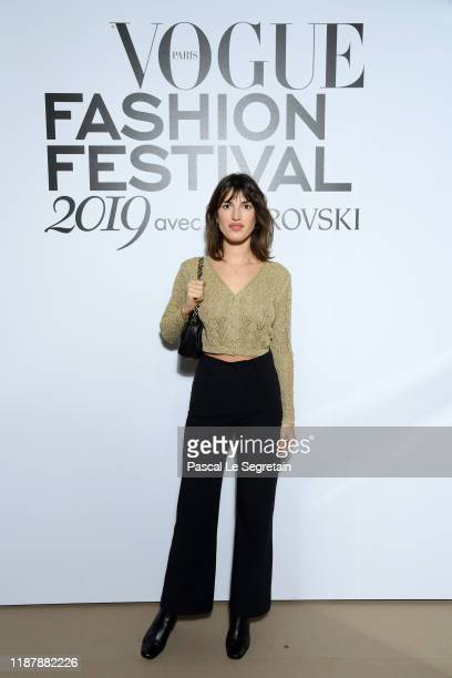 Jeanne Damas attends Vogue Fashion Festival Photocall At Hotel Potocki In Paris on November 15, 2019 in Paris, France.