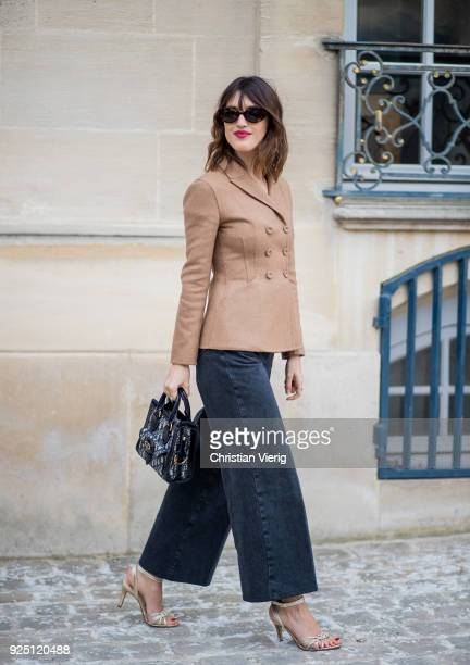 Jeanne Damas is seen outside Dior on February 27 2018 in Paris France