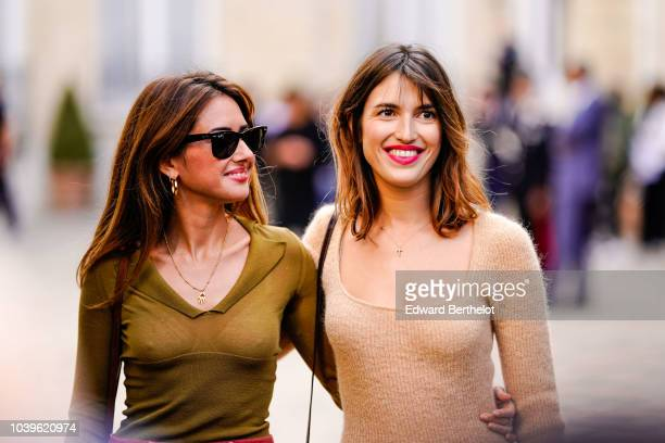 Jeanne Damas is seen outside Jacquemus during Paris Fashion Week Womenswear Spring/Summer 2019 on September 24 2018 in Paris France