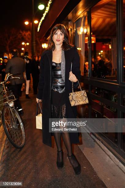 Jeanne Damas is seen, outside the Jean-Paul Gaultier show, during Paris Fashion Week - Haute Couture Spring/Summer 2020, on January 22, 2020 in...