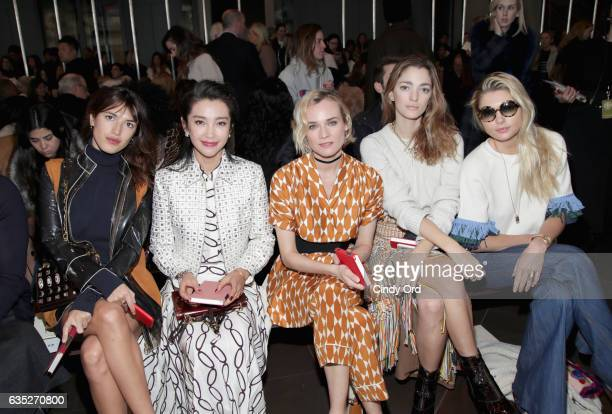 Jeanne Damas Li Bingbing Diane Kruger Sofia Sanchez and Jessica Hart attend the Tory Burch FW17 Show during New York Fashion Week at the Whitney...