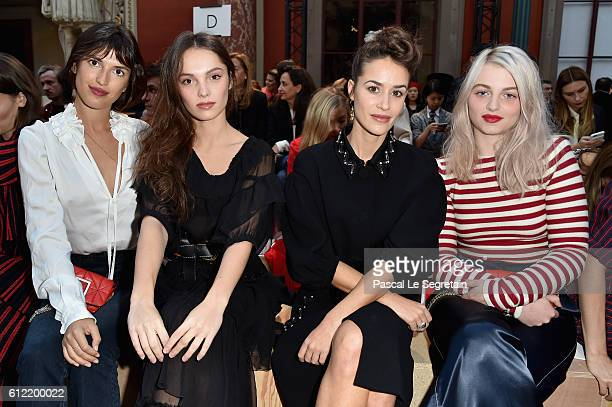 Jeanne Damas Lola Le Lann Alice David and Lou RoyLecollinet attend the Sonia Rykiel show as part of the Paris Fashion Week Womenswear Spring/Summer...