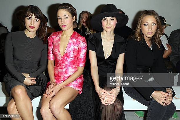 Jeanne Damas Natasha Andrews Loan Chabanol and Laura Smet attend the John Galliano show as part of the Paris Fashion Week Womenswear Fall/Winter...