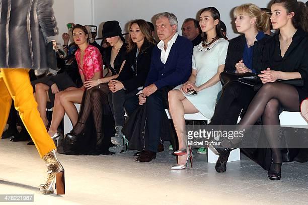 Jeanne Damas Natasha Andrews Loan Chabanol Laura Smet Sidney Toledano Shishi Liu Lolita Chammah and Esther Garrel attend the John Galliano show as...